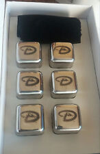 NEW Arizona Diamondbacks STAINLESS Set of 6 Ice Cubes Whiskey Beverage Drinks