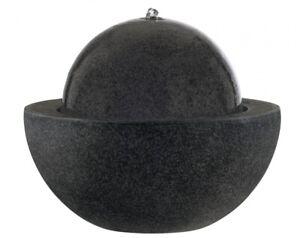 esteras - Brunnen LED natureline *Guapi* Black Stone D57cm runder emsa