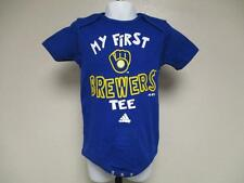 "New-Minor Flaw ""My First"" Milwaukee Brewers Adidas Infant 24m Blue Creeper"