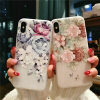 Flower Floral Phone Case For iPhone 6 7 8 Plus X Ultra Thin Soft Silicone Cover