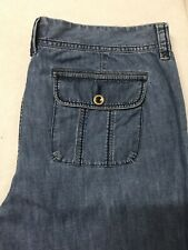 Eddie Bauer Women's Size 14 Tall Relaxed Blue Jeans Straight Leg (Y)
