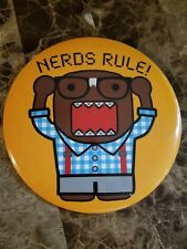 Domo Kun Officially Licensed 6 Inch Nerds Rule Button Japanese Anime