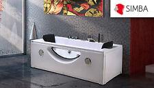 WHIRLPOOL CORNER 180 x 90 cm BATHTUB SPA BATH DOUBLE PILLOW Mod HARMONY