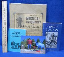 Paul Bunyan Book by James Stevens Musical Theater Newspaper Clipping Short Story