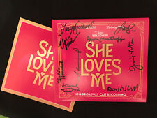 SIGNED Laura Benanti, Sheldon Harnick SHE LOVES ME 2016 CD Broadway Cast WOW!!