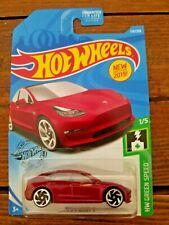 Hot Wheels 1/5 Hw Green Speed Tesla Model 3 174/250, Maroon