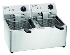 Friteuse 2 x 8 L Tischfriteuse Gastro Doppelfriteuse Fritteuse