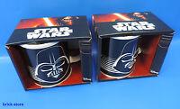 Star Wars CERAMIC Taza / Darth Vader de porcelana en Regalo Set 2 piezas