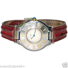 Must de Cartier 21 Stainless & 18K Gold Tone Unisex Swiss Quartz Watch Pre-Owned