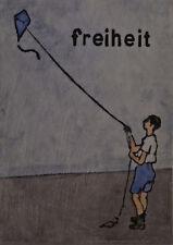 Jan M. Petersen - freiheit - Kunst Plakat Poster, lustig / Humor