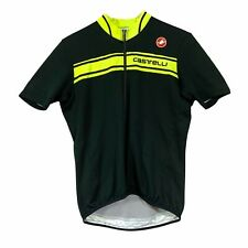 New listing Castelli Cycling Men's Top Jersey Size XL Full Zipper Short Sleeves Pockets Logo