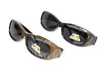 Figuretta Sonnen Überbrille UV400 Polarisiert für Brillenträger 2 Muster
