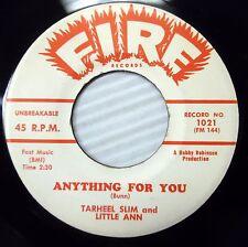 Tarheel Slim & Little Ann FOREVER I'LL BE YOURS doowop 45 on FIRE w5801