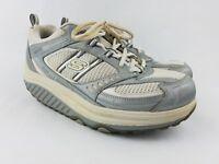 Skechers Shape Ups Womens Size 9.5 Gray Silver SLW 11814 Walking Fitness Shoes