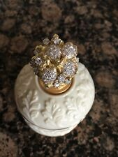 Tiffany Schlumberger 750 (18K) Gold 3.5 TCW Flower Leaf Diamond Ring w/Paperwork