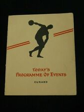 Vintage! Cunard R.M.S. Carmania Programme of Events July 29, 1931