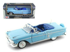 MotorMax 1:24 1958 Chevrolet Impala Convertible Diecast Model Blue 73267