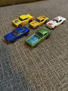 5 Mattel Hot Wheels 1967 Camaro Bye-Focal Challenger Mustang Toy Car Lot Redline