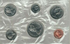 1983 Uncirculated Royal Canadian Mint Canada Proof Like Coins Set