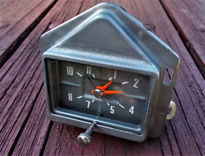 1959 59 Ford Clock Serviced Works Perfectly Galaxie Ranchero