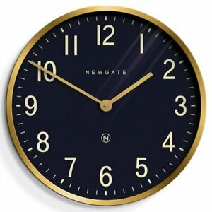 John Lewis Newgate Mr Edwards Wall Clock, Dial.45cm Black/Brass RRP £100