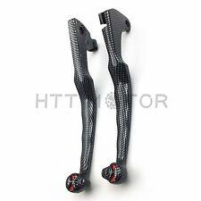 For Yamaha Virago XV 250 535 750 1100 Carbon SKULL LEVERS Controls