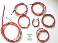 FULL LAMBRETTA  SX/TV RED CABLE KIT WITH INDIAN & ITALIAN SPEEDO CONNECTION