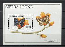 27654) SIERRA LEONE 1991 MNH** Nuovi** Flowers & Butterflies