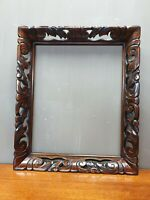 Antique Handcarved Sculpted Wooden Picture Painting Frame