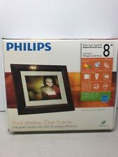 """Philips SPF3482 8"""" Digital Photo Frame with Remote Control USB Cable"""