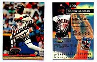 Sandy Alomar Jr. Signed 1993 Stadium Club #400 Card Cleveland Indians Autograph