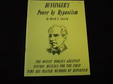 Rare, Dunninger's Power by Hypnotism