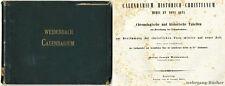 Weidenbach: chronolog. et histor. tableaux par calcul des actes données 1855