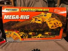 MATCHBOX Construction Site Big Box Playset Mega Rig Rare