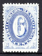 Mexico 1882 Foreign Mail Small Numeral 6¢ SVery Light Ultra/Blu District MX116