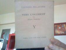 Yamata Kikou - Vers l'occident - L'alphabet des lettres 1927 E.O.