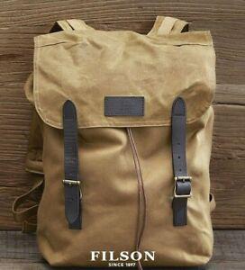 Filson - Ranger Backpack -Leather Straps -Tan/Khaki -Rugged Twill -Brass - $245