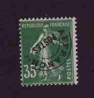 Préoblitéré N°63 35 c semeuse gomme charnière