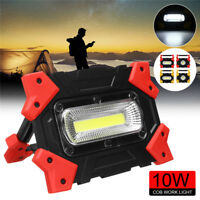 10W COB LED Work Flood Light Projecteur Flashlight Rechargeable Camping Portable