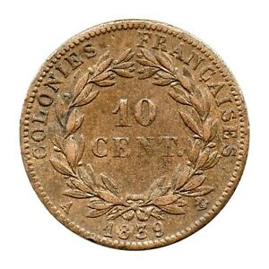KM# 13 - 10 Centimes - Louis-Philippe I - French Colonies - France 1839 A (VF)
