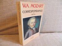 W.A. Mozart correspondance tome I 1756-1776 harmoniques Flammarion