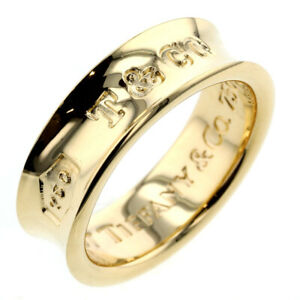 Tiffany & Co. ring Yellow gold 1837 ring US size 5-5.5 Auth #071814