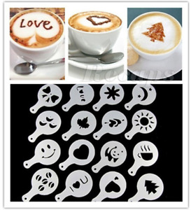 Coffee Latte Duster Design Maker Stencil Barista Cappuccino Chocolate Templates