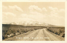 ELKO COUNTY NEVADA - REAL PHOTO POSTCARD - RUBY MOUNTAINS OLD VIEW