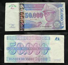 Bancanota Banque du Zaire.50 000 NZ cinquante mille nouveaux Zaires. 1996