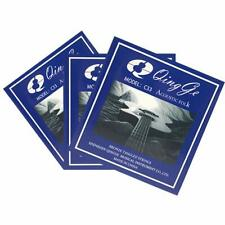 Qingge Bronze Acoustic Guitar Strings,3 Sets with 2 Full Sets and Extra 6 string