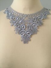 BNIP LA PERLA BEAUTIFUL SILVER/GREY LACE COLLAR/NECKLACE/CHOKER