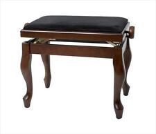 Gewa Adjustable Piano Bench Stool, Deluxe Classic WALNUT MATT **NEW**