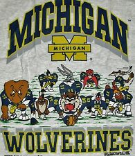 Michigan Wolverines shirt Vintage 90s Looney Tunes sz. XL NCAA gray BRAND NEW ds