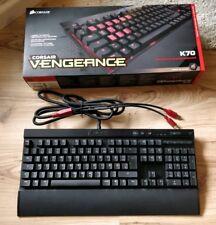 Corsair K70 Cherry MX brown, red LED, OVP, QWERTZ, mechanical keyboard, defekt
